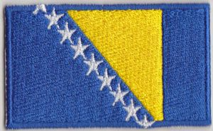Bosnia Embroidered Flag Patch, style 04.